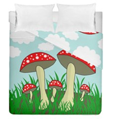 Mushrooms  Duvet Cover Double Side (queen Size)