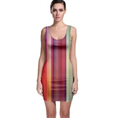 Colorful Stripes Bodycon Dress by So0oME