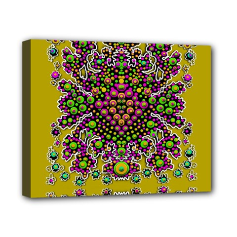 Fantasy Flower Peacock With Some Soul In Popart Canvas 10  X 8  by pepitasart