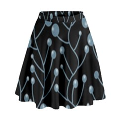 Blue Decor High Waist Skirt by Valentinaart