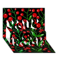 Red Christmas Berries You Rock 3d Greeting Card (7x5) by Valentinaart
