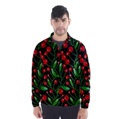 Red Christmas Berries Wind Breaker (men)