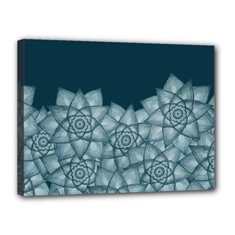Flower Star Canvas 16  X 12  by Contest2489503