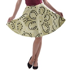 Floral Decor  A-line Skater Skirt by Valentinaart