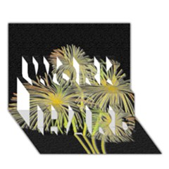 Dandelions Work Hard 3d Greeting Card (7x5)