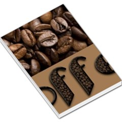 Funny Coffee Beans Brown Typography Large Memo Pads by yoursparklingshop