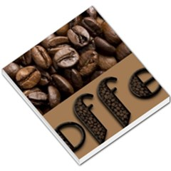 Funny Coffee Beans Brown Typography Small Memo Pads by yoursparklingshop