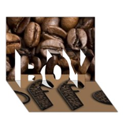 Funny Coffee Beans Brown Typography Boy 3d Greeting Card (7x5) by yoursparklingshop