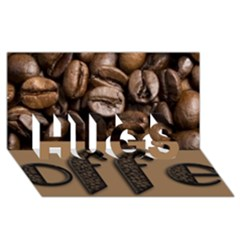 Funny Coffee Beans Brown Typography Hugs 3d Greeting Card (8x4) by yoursparklingshop