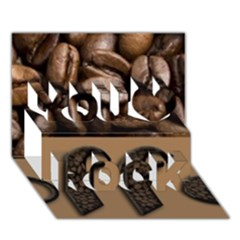 Funny Coffee Beans Brown Typography You Rock 3d Greeting Card (7x5)