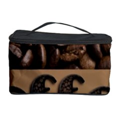 Funny Coffee Beans Brown Typography Cosmetic Storage Case by yoursparklingshop