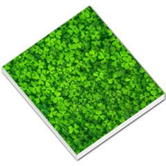 Shamrock Clovers Green Irish St  Patrick Ireland Good Luck Symbol 8000 Sv Small Memo Pads by yoursparklingshop