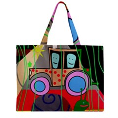 Tractor Mini Tote Bag by Valentinaart