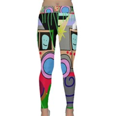 Tractor Yoga Leggings  by Valentinaart