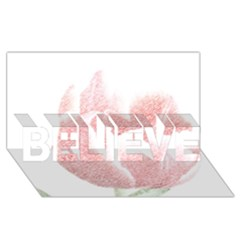 Red Tulip Pencil Drawing Believe 3d Greeting Card (8x4) by picsaspassion