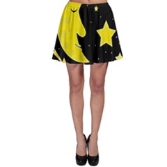 Sleeping Moon Skater Skirt by Valentinaart