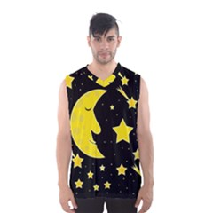 Sleeping Moon Men s Basketball Tank Top by Valentinaart