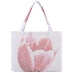 Tulip Red Pencil Drawing Art Mini Tote Bag by picsaspassion