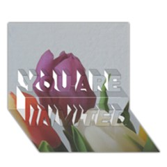 Tulips You Are Invited 3d Greeting Card (7x5) by picsaspassion