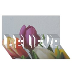 Tulips Believe 3d Greeting Card (8x4)