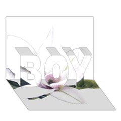 White Magnolia Pencil Drawing Art Boy 3d Greeting Card (7x5) by picsaspassion