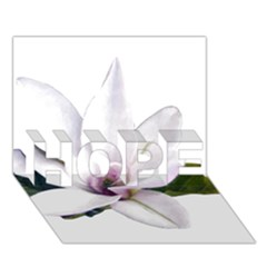 Magnolia Wit Aquarel Painting Art Hope 3d Greeting Card (7x5)