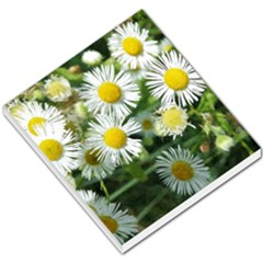 White Summer Flowers Watercolor Painting Art Small Memo Pads by picsaspassion