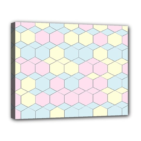 Colorful Honeycomb   Diamond Pattern Canvas 14  X 11  by picsaspassion