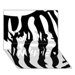 Zebra Horse Skin Pattern Black And White You Are Invited 3d Greeting Card (7x5) by picsaspassion
