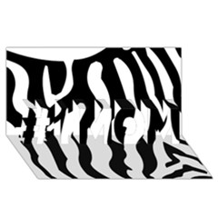 Zebra Horse Skin Pattern Black And White #1 Mom 3d Greeting Cards (8x4) by picsaspassion