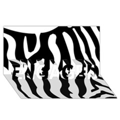 Zebra Horse Skin Pattern Black And White Engaged 3d Greeting Card (8x4) by picsaspassion