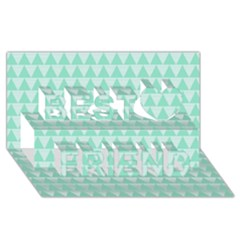 Mint Color Triangle Pattern Best Friends 3d Greeting Card (8x4) by picsaspassion