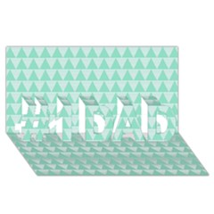 Mint Color Triangle Pattern #1 Dad 3d Greeting Card (8x4) by picsaspassion