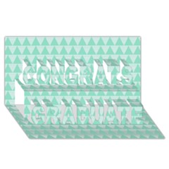 Mint Color Triangle Pattern Congrats Graduate 3d Greeting Card (8x4) by picsaspassion