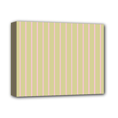 Summer Sand Color Pink Stripes Deluxe Canvas 14  X 11