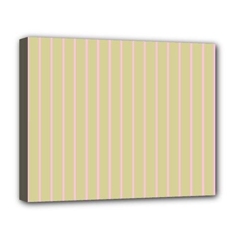 Summer Sand Color Pink Stripes Deluxe Canvas 20  X 16   by picsaspassion