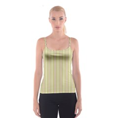 Summer Sand Color Pink And Yellow Stripes Spaghetti Strap Top by picsaspassion