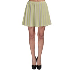Summer Sand Color Lilac Stripes Skater Skirt by picsaspassion