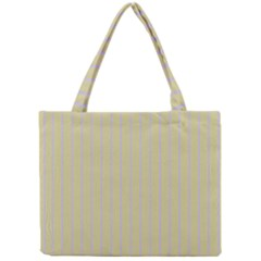 Summer Sand Color Lilac Stripes Mini Tote Bag by picsaspassion