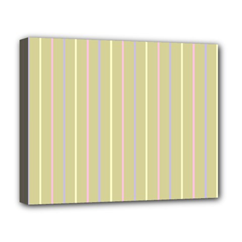 Summer Sand Color Lilac Pink Yellow Stripes Pattern Deluxe Canvas 20  X 16   by picsaspassion