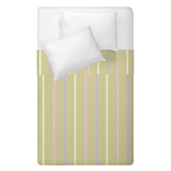 Summer Sand Color Lilac Pink Yellow Stripes Pattern Duvet Cover (single Size) by picsaspassion