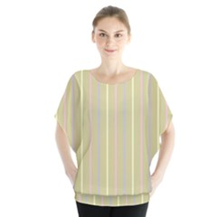 Summer Sand Color Lilac Pink Yellow Stripes Pattern Blouse