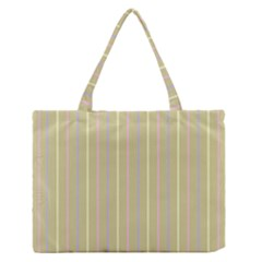 Summer Sand Color Lilac Pink Yellow Stripes Pattern Medium Zipper Tote Bag