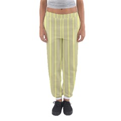 Summer Sand Color Yellow Stripes Pattern Women s Jogger Sweatpants by picsaspassion
