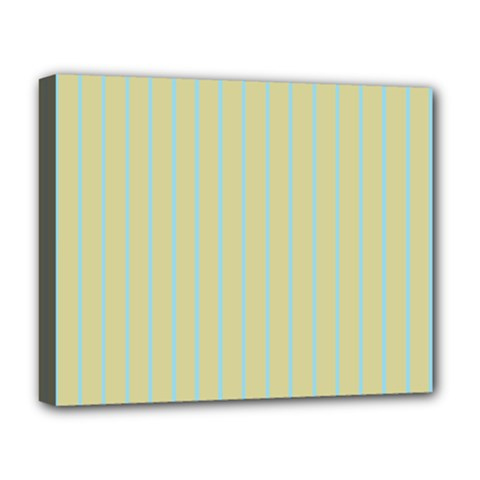 Summer Sand Color Blue Stripes Pattern Deluxe Canvas 20  X 16   by picsaspassion