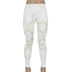 Honeycomb Pattern Graphic Design Yoga Leggings  by picsaspassion