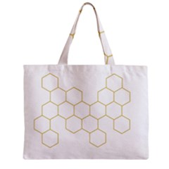 Honeycomb Pattern Graphic Design Zipper Mini Tote Bag by picsaspassion