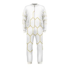 Honeycomb Pattern Graphic Design Onepiece Jumpsuit (kids) by picsaspassion