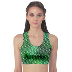 Green Abstract Forest Sports Bra by DanaeStudio