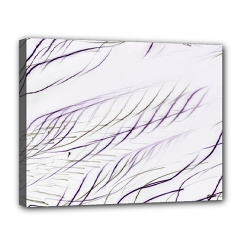 Lilac Stripes Canvas 14  X 11  by picsaspassion
